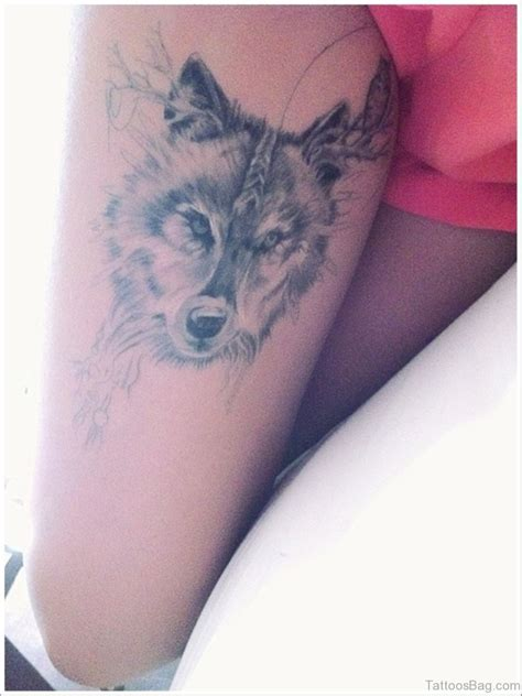wolf tattoo for girl 41 marvelous wolf tattoos for leg
