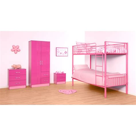 Bunk Bed Montreal Montreal Pink Single Bunk Bed Ark Furniture