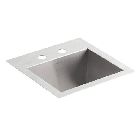 Dual Mount Sink by Kohler Vault Dual Mount Stainless Steel 15 In 2