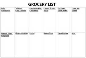 Shopping List Template Uk Kroger Grocery List Template Images
