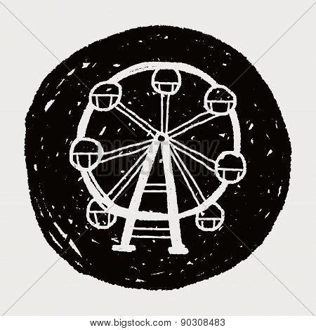 doodle wheel ferris wheel doodle vector photo bigstock