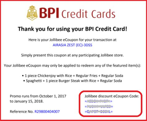 how to make advance in bpi credit card free jollibee chicken with your bpi credit card promo