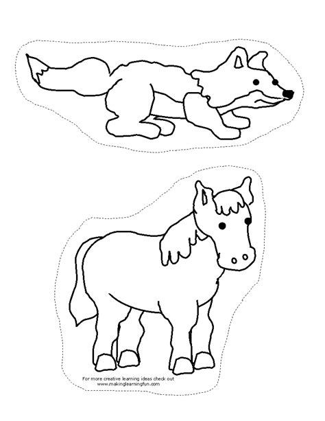 printable animal stick puppets hibernation coloring pages for preschoolers coloring pages