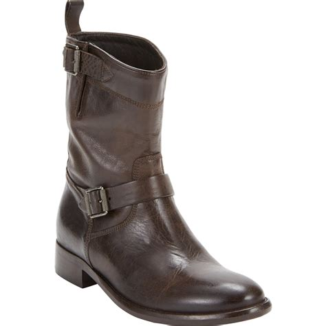 womens brown moto boots belstaff bedford motorcycle ankle boots in brown lyst