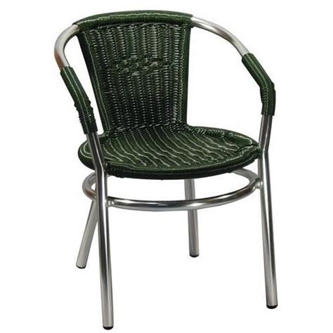 Faux Wicker Patio Chairs by Aluminum Patio Arm Chair With Faux Green Rattan