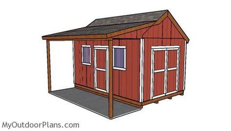 shed  side porch plans myoutdoorplans