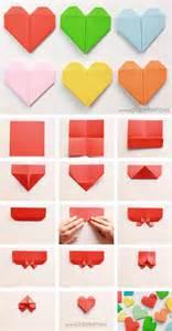 como hacer un corazon de papel facil san valentin coraz 243 n de papel tarjeta de san valent 237 n origami papelisimo
