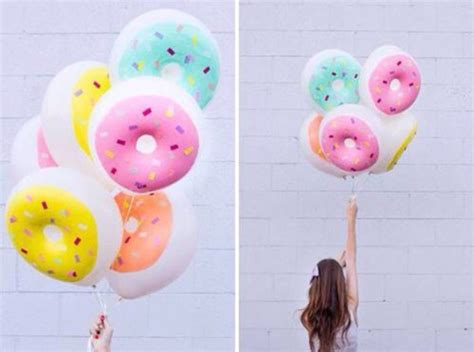 Balon Donut home accessory donut ballon lovely food hungry pink blue yellow