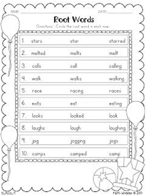 And Root Words Worksheets by Posts Words And On