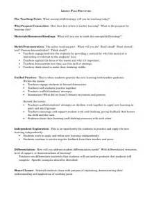 lesson plan structure