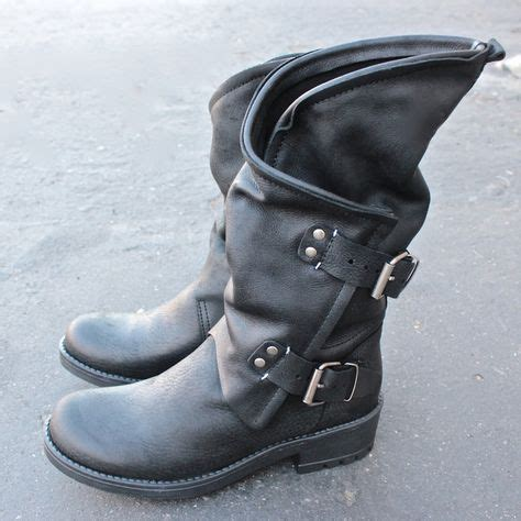 real biker boots coolway alida leather motorcycle boots black real