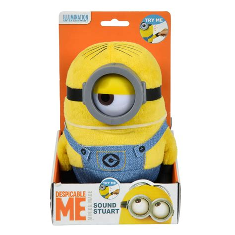 22 Cm Boneka Minions Rambut minions knuffel stuart met geluid 22cm thimble toys