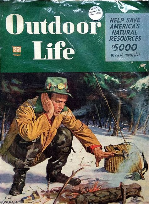 outdoor life vintage outdoor life magazine man fishing by fire www