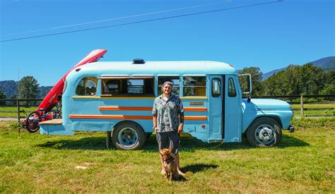 tiny house school bus young man builds epic school bus tiny house for only 4 500