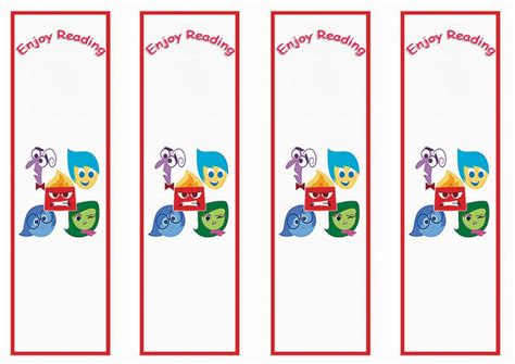 printable birthday bookmarks inside out bookmarks birthday printable