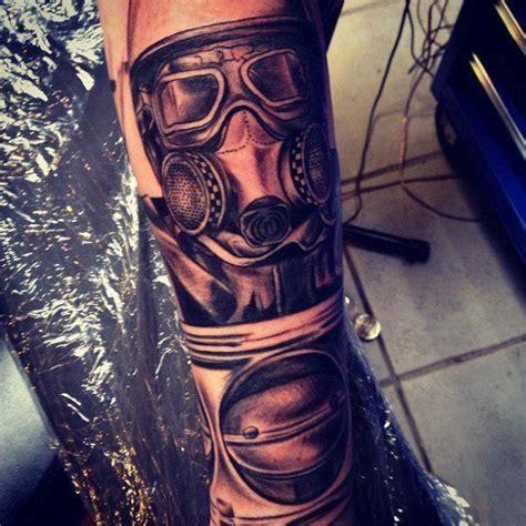 arm gas mask tattoo by underworld tattoo supplies