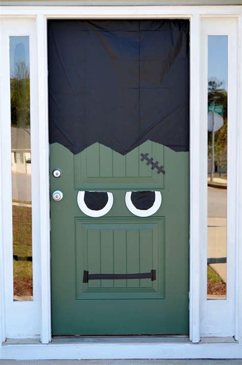 Frankenstein Door by Diy Frankenstein Front Door Pumpkin