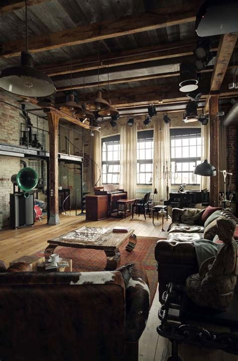 captivating industrial style loft apartment  moscow