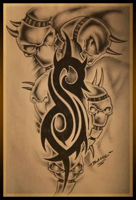 slipknot tattoo designs 18 amazing slipknot logo tattoos