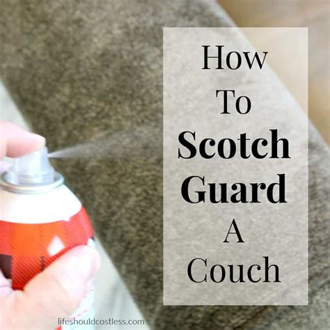 scotch guard couch how to scotch guard a couch life should cost less