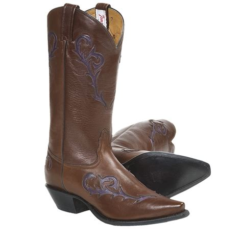 italian boots for tony lama italian inlay cowboy boots leather for
