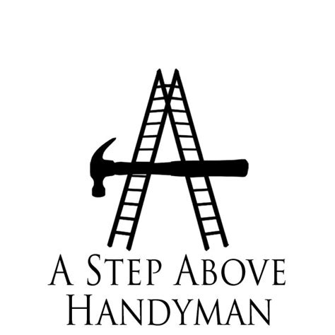 a step above a step above handyman logo david staats