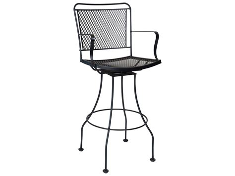 Wrought Iron Bar Stool Woodard Constantine Wrought Iron Swivel Bar Stool 130068