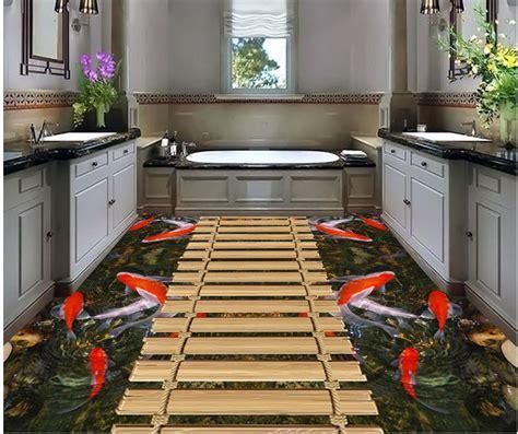 wallpaper dinding tahan air dekorasi rumah kecil jembatan lantai lantai pvc wallpaper