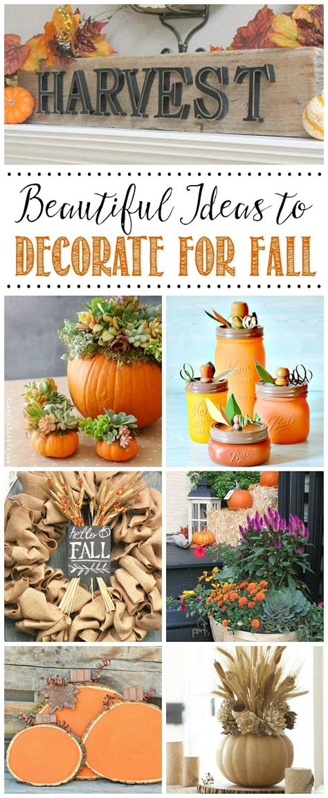 Decorating Ideas For Fall 2015 Favorite Fall Decor Ideas Clean And Scentsible