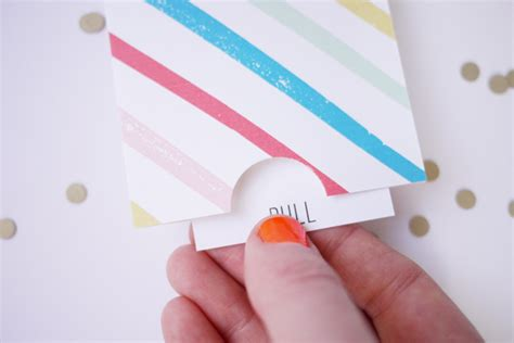 how to make pull out cards printable birthday pull card