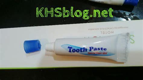 Pasta Gigi Di Indo begini cara buka pasta gigi kecil ketika dihotel hehehe