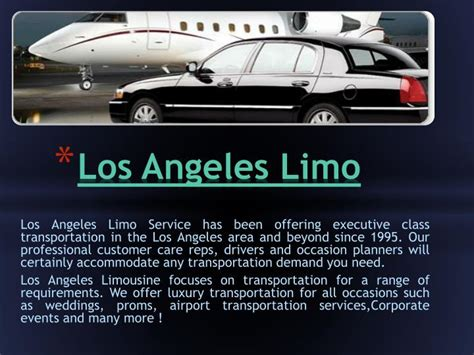 La Limo Service by Ppt La Limo Service Powerpoint Presentation Id 6938770