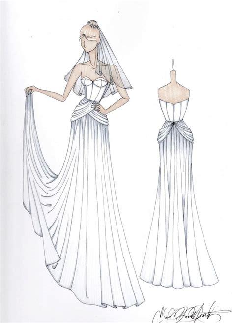 custom wedding dress dress custom wedding dress illustration 2450585 weddbook