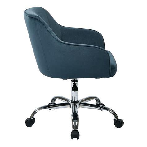 atlantic office furniture task office chair in atlantic blue velvet brl26 b20