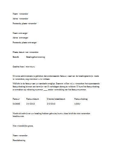 Zakelijke Layout Word | gratis formele brief in word