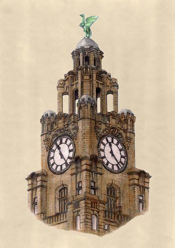 liver bird on the royal liver building liverpool by gerald