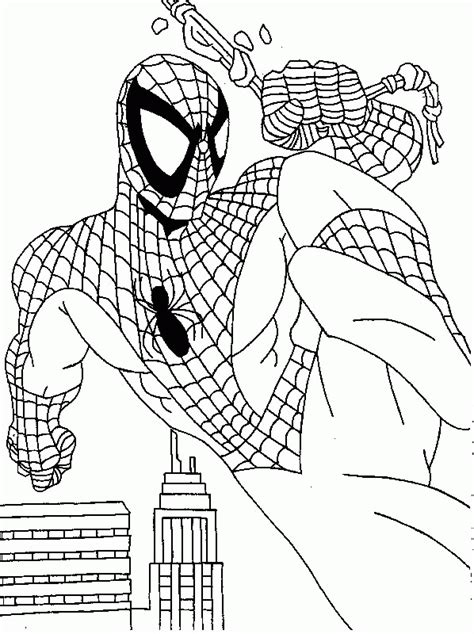 free coloring pages of baby spiderman
