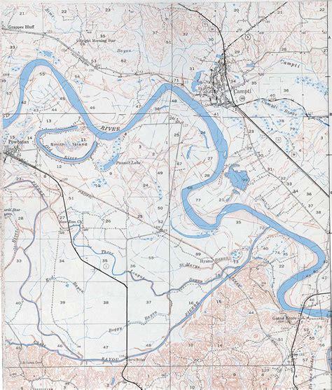 louisiana map rivers lab streams