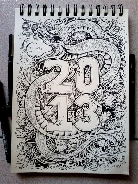 new doodle ideas doodle year of the water snake by kerbyrosanes on