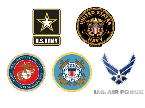 military branch logos the 5 military branches explained star spangled flags