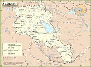 map of armenia and armenia airports map
