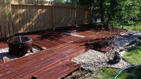 garden floor ideas pallet deck and outdoor garden floor