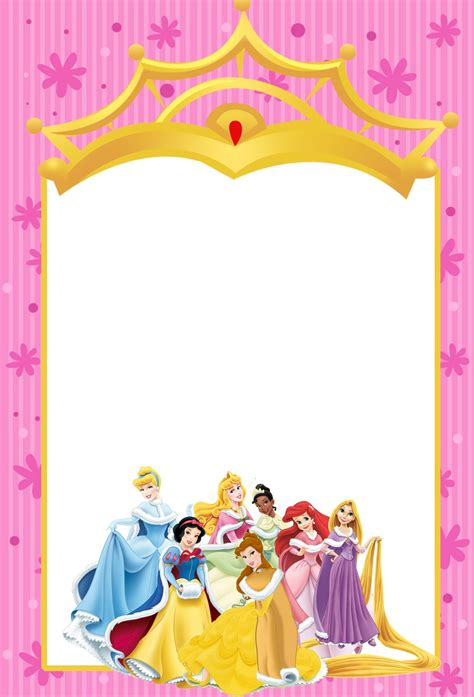Printable Disney Princesses Invitations Free Printable Disney Templates Free