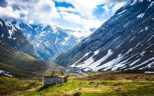house mountain norway mountain house nature wallpaper