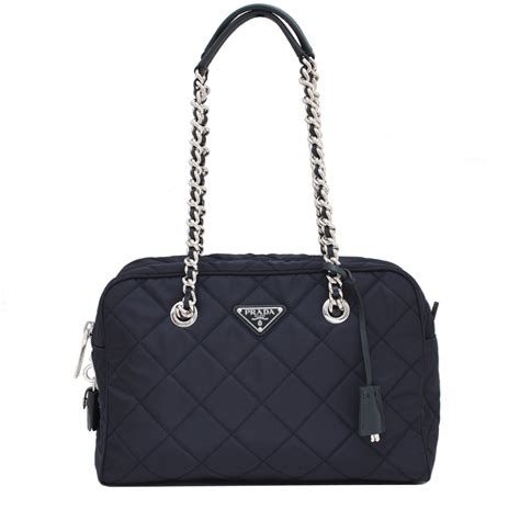 Prada Quilted Bag prada bl0903 quilted tessuto shoulder bag with chain
