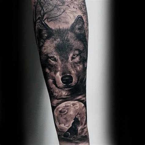 wolf sleeve tattoo designs 50 realistic wolf designs for canine ink