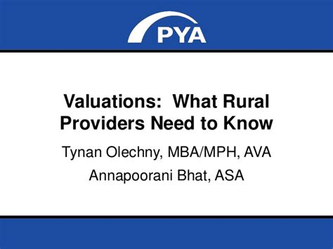 Rural Healthcare Mba by Fair Market Value What Rural Providers Need To