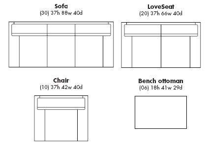 standard sofa sizes search room for living
