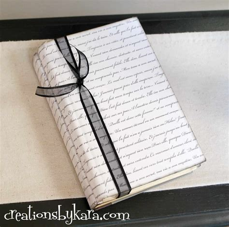 Paper Books - diy paper wrapped book tutorial creations by kara