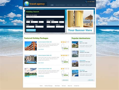 php homepage template travel website template free travel agency website